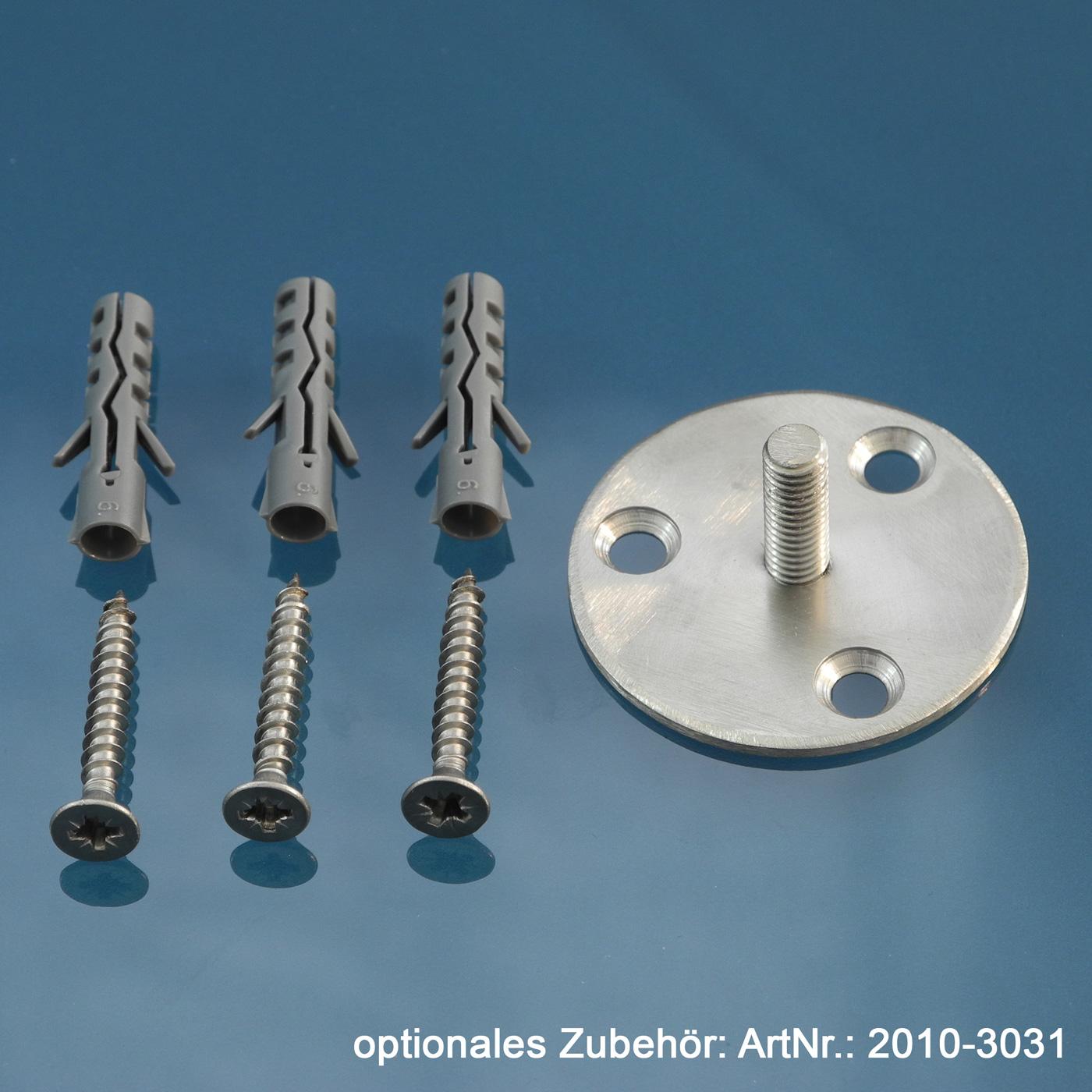 Gardinenstangen Wandhalter 20mm - 2-läufig
