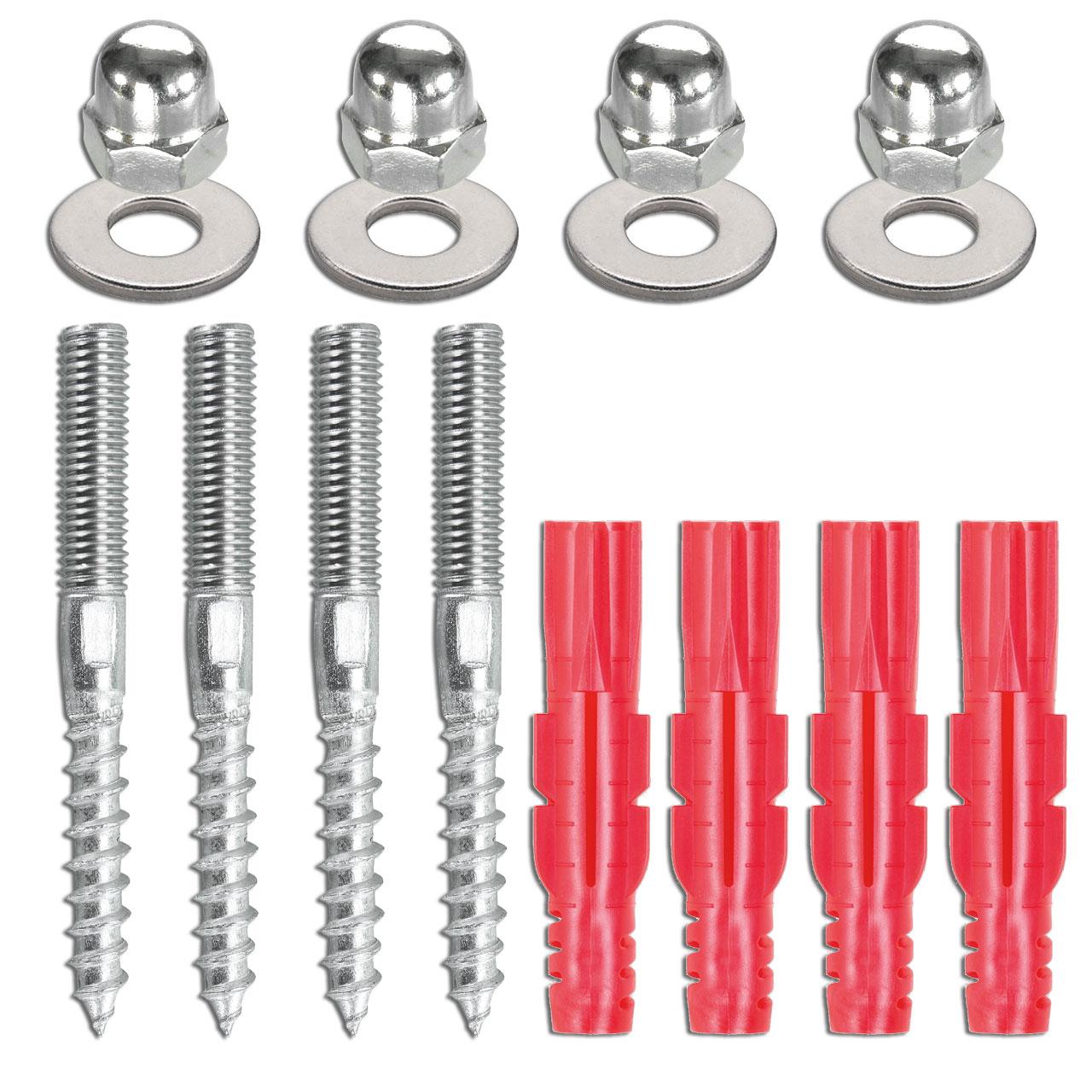 Montagesatz - M8 | Stockschrauben | Hutmuttern | 4x
