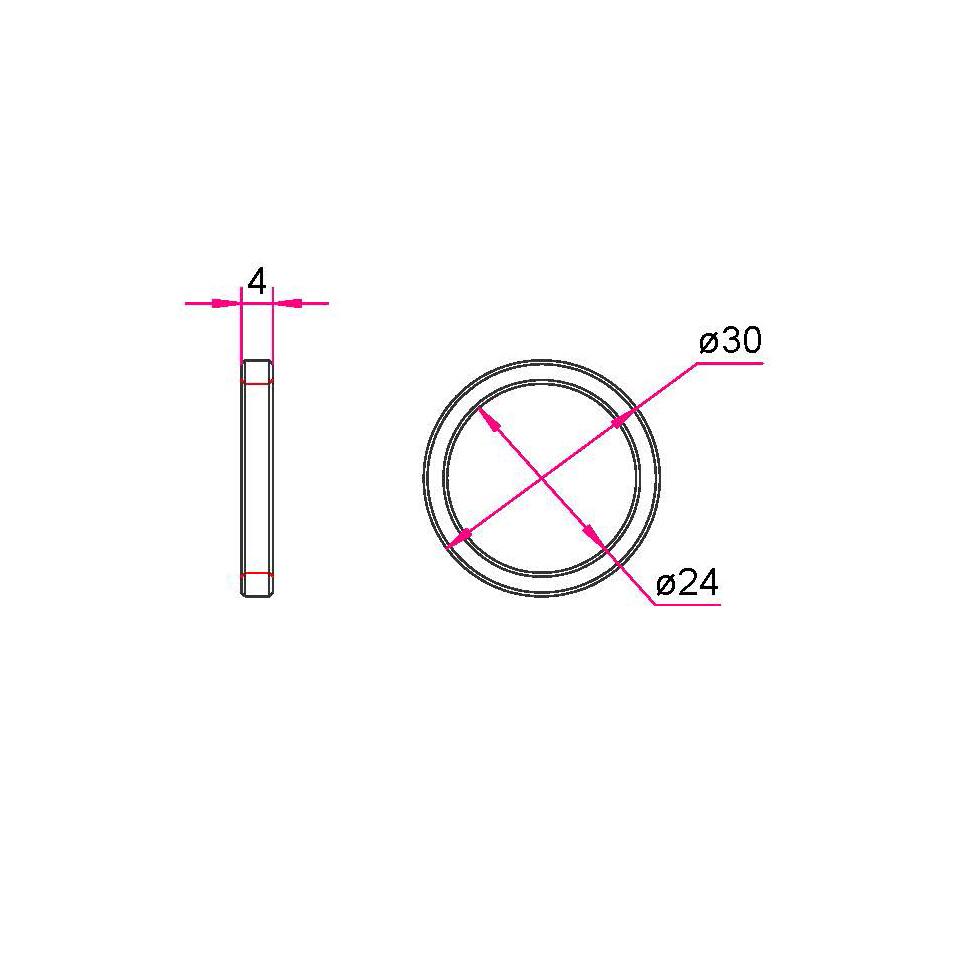 Gardinenringe Edelstahl 30mm / Ø16mm