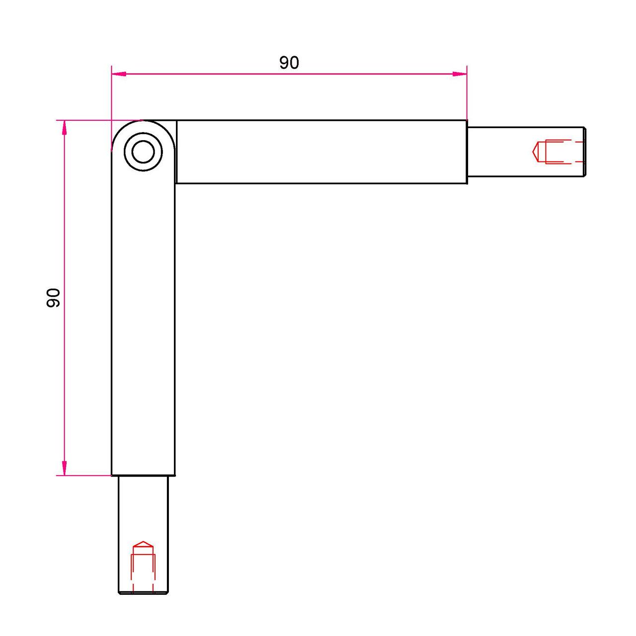 Gardinenstangen Winkelstück 12mm - einstellbar